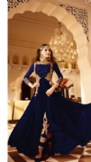 Blue Suit With Embellished Churidar